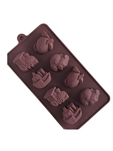 Menglihua Christmas Homemade Candy Butter Jello Chocolate Baking Silicone Bakeware Molds Train Plane Boat 20x10x2cm