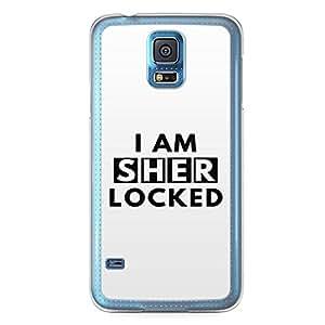 Samsung Galaxy S5 Transparent Edge Case Sherlock I Am Sherlocked