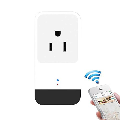 Teepao WiFi Smart Mini Plug IR Control Air Conditioner Works with Alexa and Google Home, Wireless Remote Control Electrical Outlet Switch with Energy Monitoring, Support Voice and Phone App Controlled by Teepao