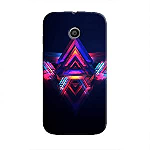 Cover It Up - Abstract Red&Blue Moto E Hard Case