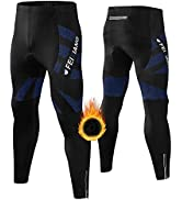 FEIXIANG Men's Thermal Bike Pants, Winter Cycling Biking Fleece Lined Tights 4D Padded Cold Weath...