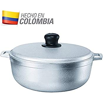 IMUSA USA GAU-80508 17.9Qt JUMBO Traditional Colombian Caldero (Dutch Oven) for Cooking and Serving, Silver