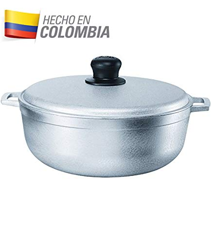 IMUSA USA GAU-80508 17.9Qt JUMBO Traditional Colombian Caldero (Dutch Oven) for Cooking and Serving, Silver by Imusa (Image #5)