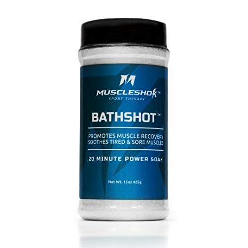 MuscleShok Bath Soak for Sore Muscles - 2 Count, (1.9 lbs Total). Optimal Amount of Epsom Salt, MSM and Essential Oil - OUTPERFORMS Epsom Bath Salts Alone - Promotes Muscle Recovery