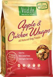 UPC 772924504284, VitaLife All Natural Dog Treats - Apple & Chicken Wraps 16 oz (454g)
