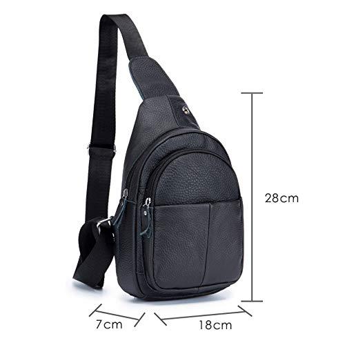 Sac Cuir Femme Black Messenger M Bags À Front Black color En 8 Bandoulière Pour Bag Pouces Size rWr1nf
