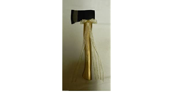Amazon Com Wedding Reception Retired Fireman Firefighter Gold Axe Cake Cutter Everything Else
