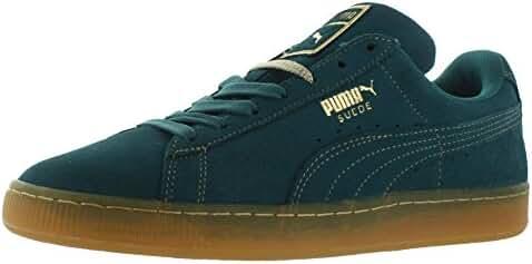 Puma Suede Classic GF Men Round Toe Suede Blue Sneakers