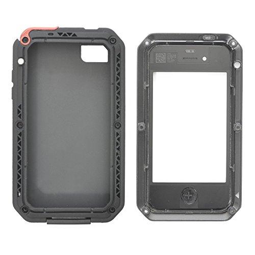 iPhone 4 / 4s - iProtect Outdoor Case Custodia per esterno custodia protettiva vetro blindato anti Shock- anti sporcizia in nero