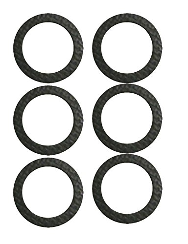 Omc Inboard Outboard - MISSION AUTOMOTIVE 6-Pack Marine Drain Screw Gasket - Compatible With Most Lower Units and Seawater Pumps - Comparable to Sierra International (TM) 18-2945-9