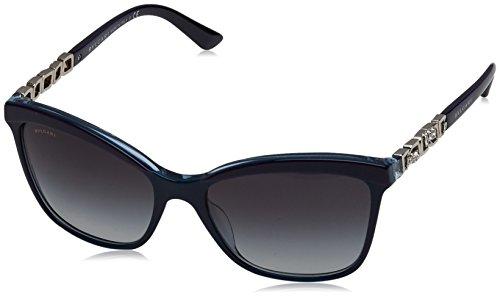 Bvlgari Women's BV8163B Sunglasses Top Violet/Blue/Crystal / Grey Gradient - Shades Bulgari