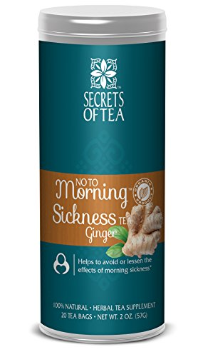 - No to Morning Sickness Pregnancy Tea -Certified Organic Ginger - No Caffeine- Pregnancy Morning Sickness Relief, Cramps,Nausea, Constipation-20 Unbleached T Bags-Delicious Hot or Cold -up to 40 Cups