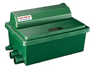 Fish mate 2500 guv gravity uv bio pond filter for Used fish pond filters