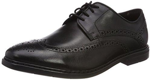 Clarks Herren Banbury Limit Brogues, Schwarz (Black Leather ----)