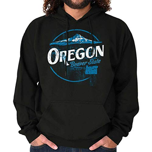 Oregon Beaver State Mountains Pacific Crest Hoodie Black (Crater Mountain Hoodie)