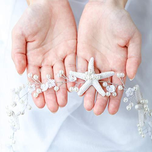 Sea Goddess Mermaid Costumes - Unicra Wedding Starfish Headpiece Bridal Wedding