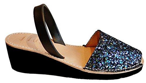 Avarcas 4 Glitter Autentici Vari Colori cuneo Menorquínas Di Glitter 8 Sandali Cm Lilas Piattaforma Minorca a8d7aqX