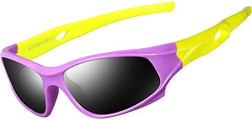ATTCL Kids Hot TR90 Polarized Sunglasses Wayfarer Style For Boys Girls Child Age 3-10
