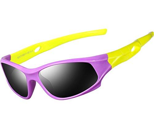 ATTCL Kids Hot TR90 Polarized Sunglasses Wayfarer Style For Boys Girls Child Age 3-10 - 7 Sunglasses