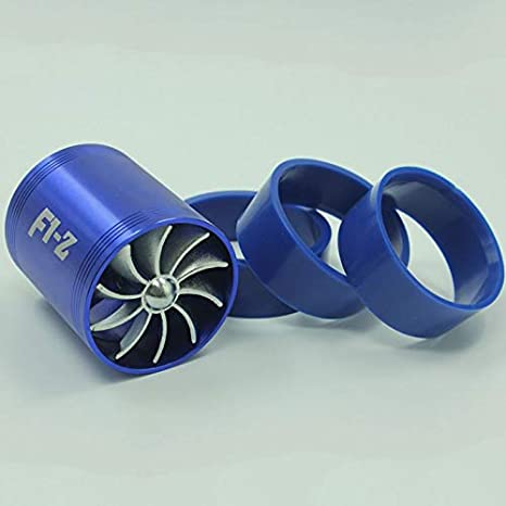 TOOGOO Turbolader Turbineluefter Doppio Turbo Elica ECO Luefter F1-Z Carburante
