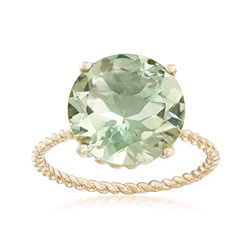 (Ross-Simons 4.50 Carat Green Prasiolite Twist Rope Ring in 14kt Yellow Gold)