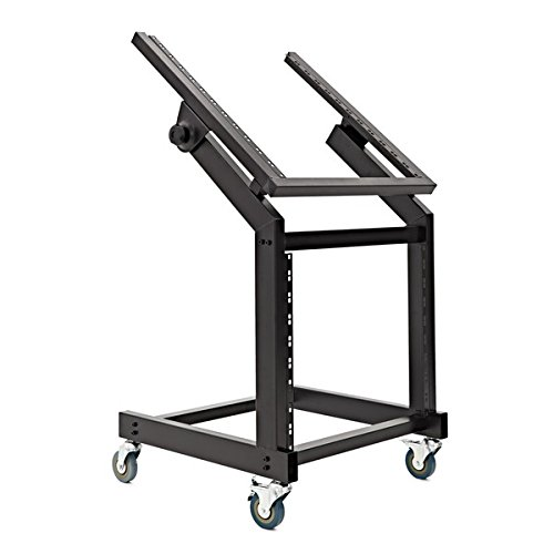 Chariot Rack de Studio Ajustable 19 12U + 10U par Gear4music