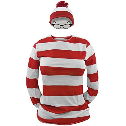 elope Where's Waldo Adult Large/X-Large Wenda Costume Kit