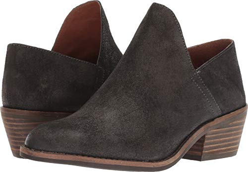 Lucky Brand Women's Fausst Ankle Boot, Grey Night, 7.5 Medium US