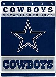 "The Northwest Company Officially LicensedNFL Dallas Cowboys 12th Man Plush Raschel Throw Blanket, 60"" x 8"