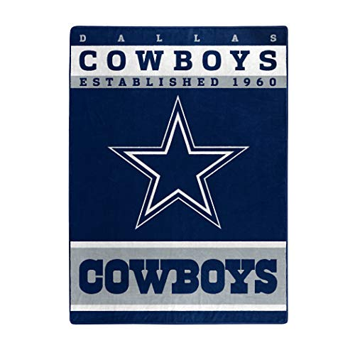 The Northwest Company Officially Licensed NFL Dallas Cowboys 12th Man Plush Raschel Throw Blanket, 60