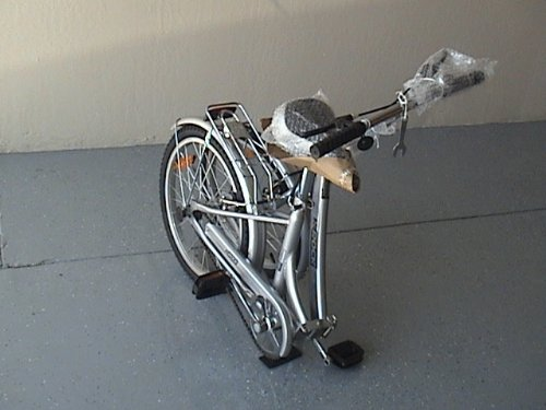 Folding Bike 20 Inchces Color SILVER by BESTCO PRODUCTS (Image #2)
