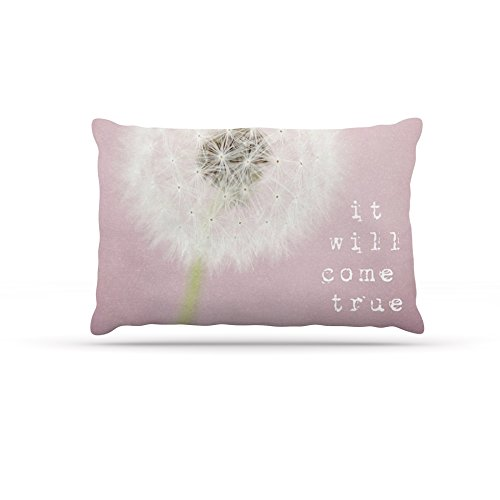 Kess InHouse Susannah Tucker ''It Will Come True'' Pink Flower Dog Bed, 30 by 40-Inch by Kess InHouse