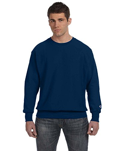 Champion Reverse Weave Crew Neck Shirt (Medium, Team Navy)