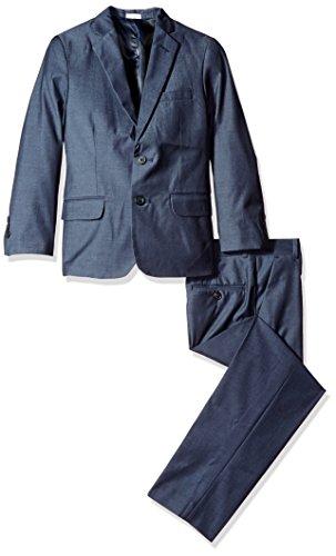 Calvin Klein Big Boys Twill Suit, Dark Blue, 8 by Calvin Klein