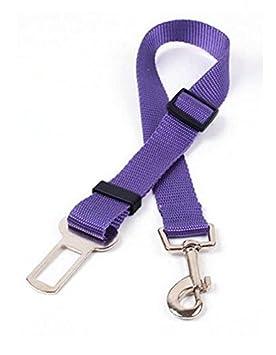 L/&L/® Dog Safety Adjustable Seat Belt Lock Clip Attachable For Car Van Pet Lead UK Purple