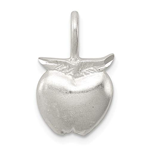 Mireval Sterling Silver Apple Charm (approximately 20 x 11 mm)