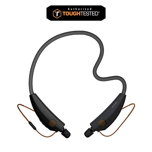 ToughTested - Flex ProComm 2 Durable Flexible Neck Band Bluetooth Wireless Headset with 23NRR & 15Hr Battery - 3D Audio Stereo On-Ear Headphones