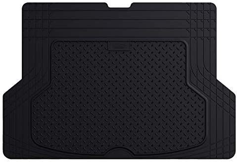 FH Group F16406 Premium Trimmable Rubber Cargo Mat (Black) – Universal Fit for Cars Trucks and SUVs