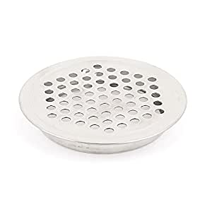 uxcell Metal Perforated Mesh Hole Air Vent Louver Cover 65mm Dia Silver Tone
