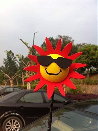Sun Flower EVA Car Antenna Topper Aerial Topper Car Decoration Anti-Collision Sticker