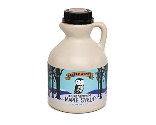 (Pure Vermont Maple Syrup - One Pint Jug (16 oz) - Grade A Amber Rich - Barred Woods Maple)