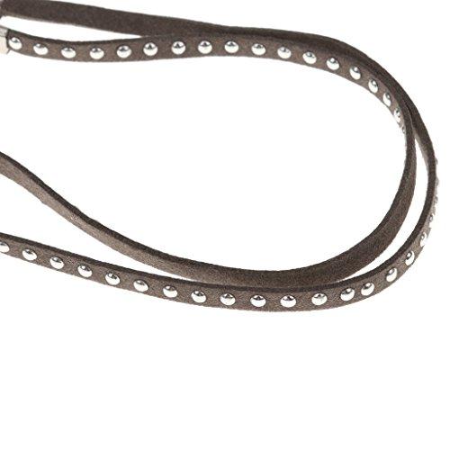 Jili Online Retro Sprots Reading Glasses Sunglasses Eyewear Long Suede Lanyard Strap Holder Chain - Grey ()