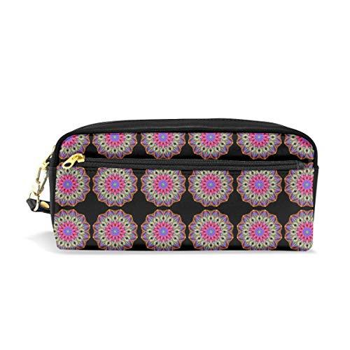 Basketweave Mandala_2292 Cosmetic Bags Portable Travel Makeup Organizer Multifunction Case Bags for Women
