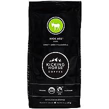Kicking Horse Coffee, Kick Ass, Dark Roast, Whole Bean, 10 Ounce