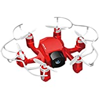 Binmer(TM) SBEGO 126C Mini Drone 2MP Camera 4CH 6 Axis 3D Flip LED RC Quadcopter Teens Adult Toys Gift (Red)