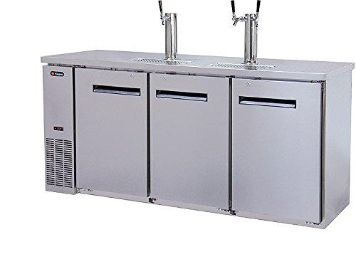 Kegco Kegerator Commercial Grade Three Keg Draft Beer Dispenser - Three Faucet