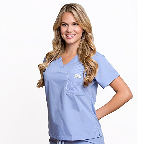 sky blue scrubs - 5