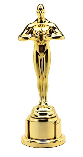 Award Trophy Statue for Celebration or Party 7 1/4 Inches ALL GOLD, Set of 3