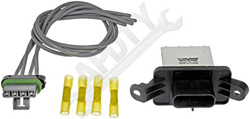 APDTY 084610 Blower Motor Resistor & Harness Kit Fits 2004-2012 Chevrolet Malibu, 2005-2010 Pontiac G6, Or 2007-2009 Saturn Aura (Manual A/C Controls ONLY; Replaces 15831065, 22688135)