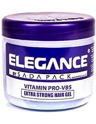 Elegance Extra Strong Hair Gel, Blue, 33.8 Ounce